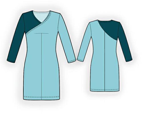 Платье двухцветное выкройка