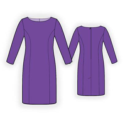 Модель классического платья