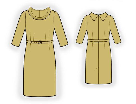 Платье с воротником-хомут выкройка