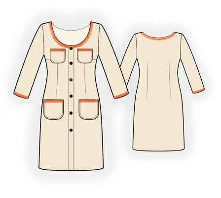 Выкройки платье на пуговицах