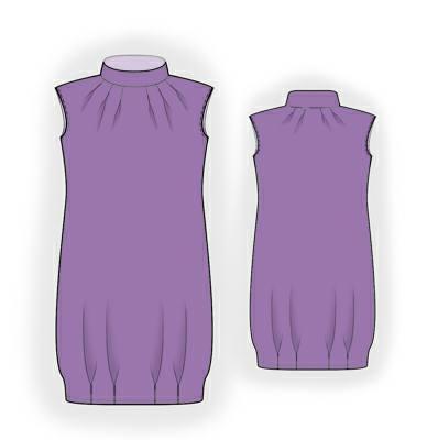 выкройка платьев со складками