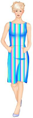 выкройка платья на тонких бретелях