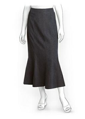 Выкройка юбки 8-и клинки