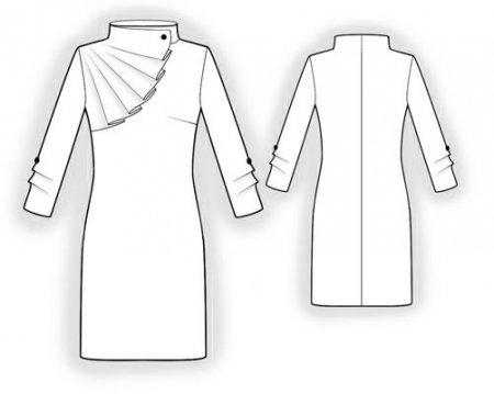 Выкройка - платье с отлетной кокеткой