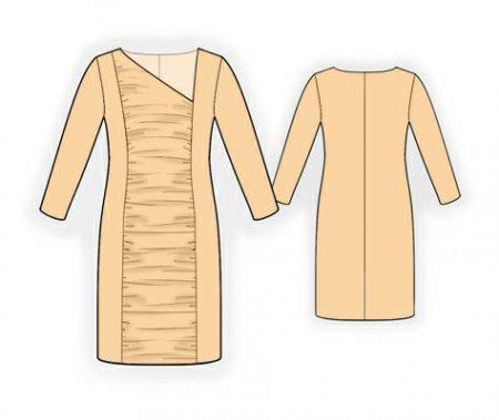 Выкройка - платье со сборкой