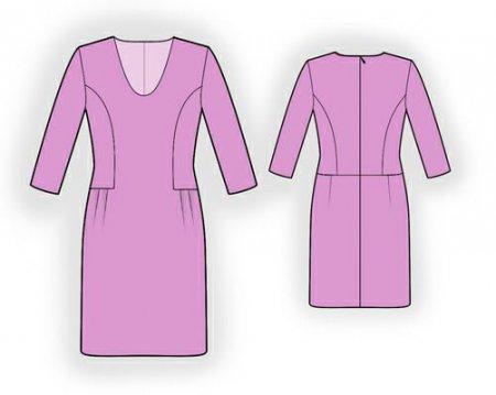 Выкройка - серое платье