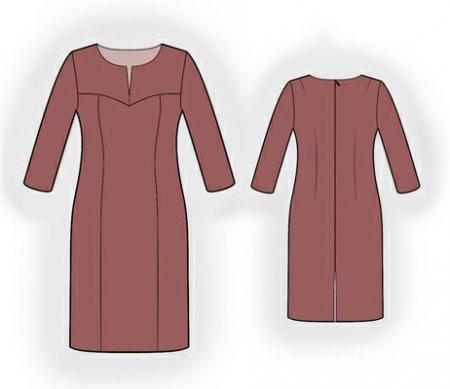 Выкройка - коричневое платье