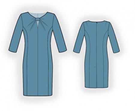 Выкройка - платье с узлом