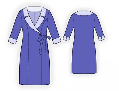 Выкройка - платье с запахом