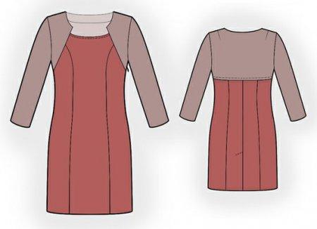 Выкройка - платье с эффектом болеро