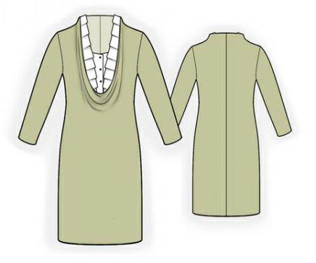 Выкройка - платье с горловиной качель