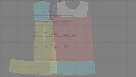Выкройка - двухцветное платье