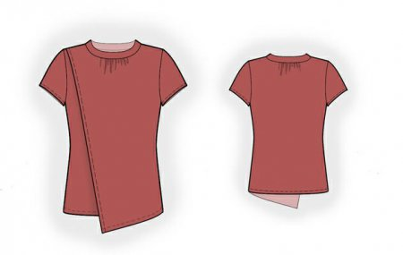 Выкройка - блузон с отлетной полочкой