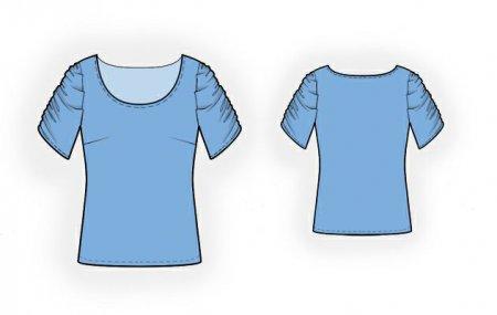 Выкройка - блузон с рукавами на сборке