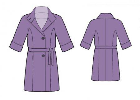 Выкройка - пальто с коротким рукавом