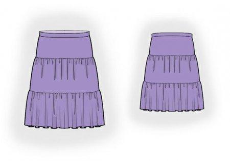 Выкройка - юбка со сборкой