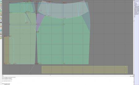 Выкройка - юбка с боковыми вставками