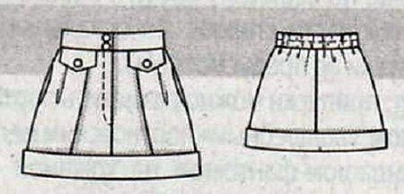 Выкройка мини-юбки