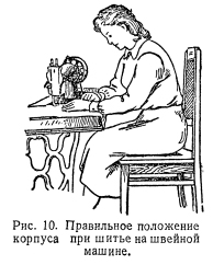 Приемы работы при шитье на швейной машине