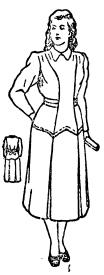 Выкройка женского платья, прилегающего по фигуре