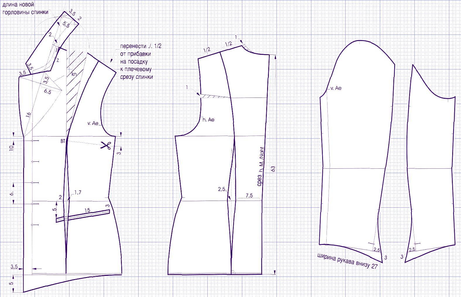 Выкройка пиджака своими руками