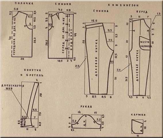 Выкройка утепленного детского полукомбинезона Шкатулка 72
